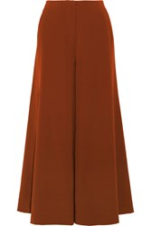 Elizabeth And James Delany Washed Satin Wide Leg Pants Copper