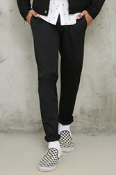 Forever 21 Slim Fit Woven Chinos Black