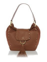 Biba Stud Detail Hobo Bag Tan