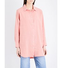 Mih Jeans Oversized Linen And Cotton Blend Shirt Paper Pink