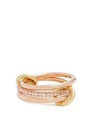 Spinelli Kilcollin Sonny Diamond Yellow And Rose Gold Ring