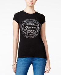 Guess Vintage Graphic T Shirt Jet Black