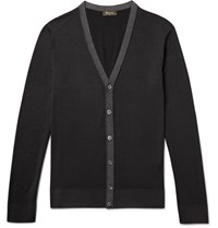 Berluti Garment Dyed Wool Cardigan Black