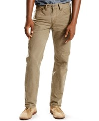 Levi's 514 Straight Fit Padox Canvas Twill Pants Earth Brown