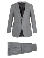 Kilgour Single Breasted Wool Crepe Suit Light Grey