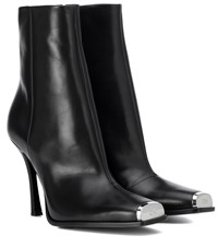 Calvin Klein 205W39nyc Wilamiona Leather Ankle Boots Black