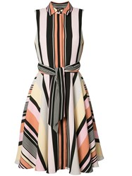 Badgley Mischka Striped Shirt Dress Multicolour