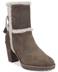 Frye Women's Jen Shearling Short Booties Women's Shoes Smoke Grey