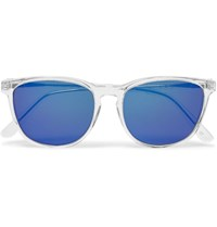 L.G.R D Frame Acetate Polarised Sunglasses White