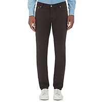 Isaia Men's Slim Fit Jeans Brown