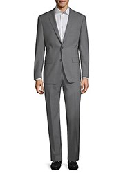 Michael Kors Slim Fit Wool Suit Grey