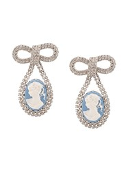 Jennifer Behr Crystal Embellished Drop Earrings Blue