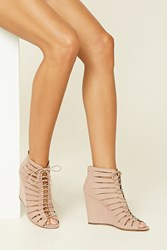 Forever 21 Strappy Lace Up Wedges