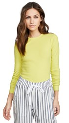 Three Dots Essential Heritage Knit Long Sleeve Tee Pear