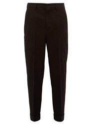 Raey Tapered Leg Wool Trousers Black