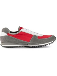 Car Shoe Panelled Sneaker Red
