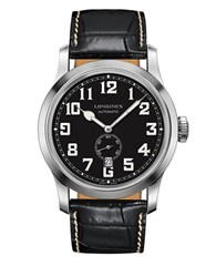 Longines Leather Band Chronograph Black