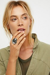 Free People Womens Mirror Stone Orbit Ring