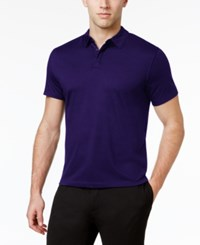 Alfani Men's Soft Touch Stretch Polo Created For Macy's Neo Navy
