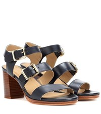 A.P.C. Betsy Leather Sandals Black