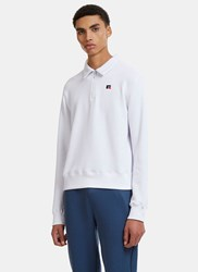 Russell Athletic Carnegie Collar Half Zip Sweater White