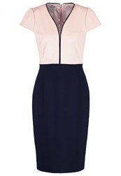 Hobbs Harper Shift Dress Blossom Pink Navy Rose