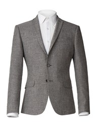 Limehaus Callow Grey Texture Skinny Fit Jacket Grey
