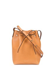 Mansur Gavriel Knot Detail Bucket Bag Brown