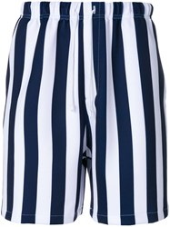 Noon Goons Red Striped Shorts Blue