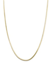 Giani Bernini 24K Gold Over Sterling Silver Necklace 20' Snake Chain Necklace