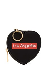 Forever 21 Los Angeles Graphic Coin Purse Black Multi