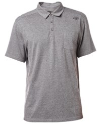 Fox Men's Legacy Heathered Polo Heather Graphite
