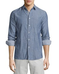 Rag And Bone Beach Tonal Stripe Sport Shirt Navy