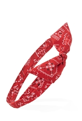 Forever 21 Bandana Print Bow Headwrap Red Multi