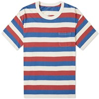 Visvim Border Jumbo Tee Red