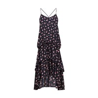Paisie Floral Cami Dress With Double Layered Ruffle Dip Hem