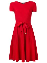 Salvatore Ferragamo Flared Pleated Accent Dress
