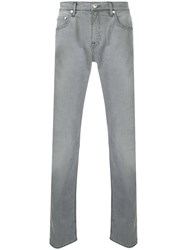 Cerruti 1881 Slim Fit Denim Jeans Cotton Spandex Elastane Grey