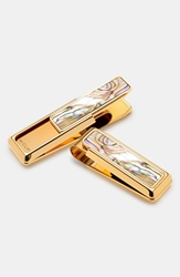 M Clip 'New Yorker Abalone' Money Clip Gold Pearl