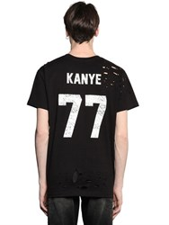 Les Artists Kanye Printed Cotton Jersey T Shirt