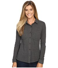 Columbia Saturday Trail Knit Long Sleeve Shirt Shark Heather Women's Long Sleeve Button Up Gray