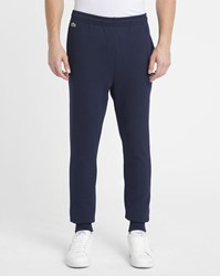 Lacoste Navy Crocodile Logo Slim Fleece Joggers Blue