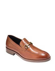 Cole Haan Dress Revolution Henry Grand Leather Horse Bit Loafers British Tan