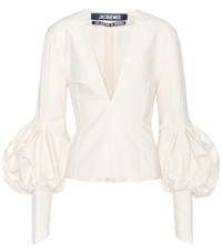 Jacquemus Cotton Blouse White