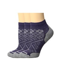 Smartwool Phd Run Elite Low Cut Pattern Mountain Purple Women's Low Cut Socks Shoes