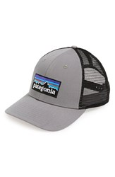 Men's Patagonia 'P6' Trucker Hat Grey Feather Grey