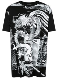 Balmain Graphic Print T Shirt Black