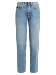 Mih Jeans Linda High Rise Tapered Boyfriend Light Denim