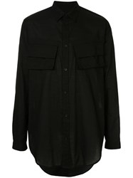 Julius Oversized Long Sleeved Shirt Black