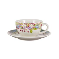 Gien Millefleurs Cup And Saucer Set Of 2